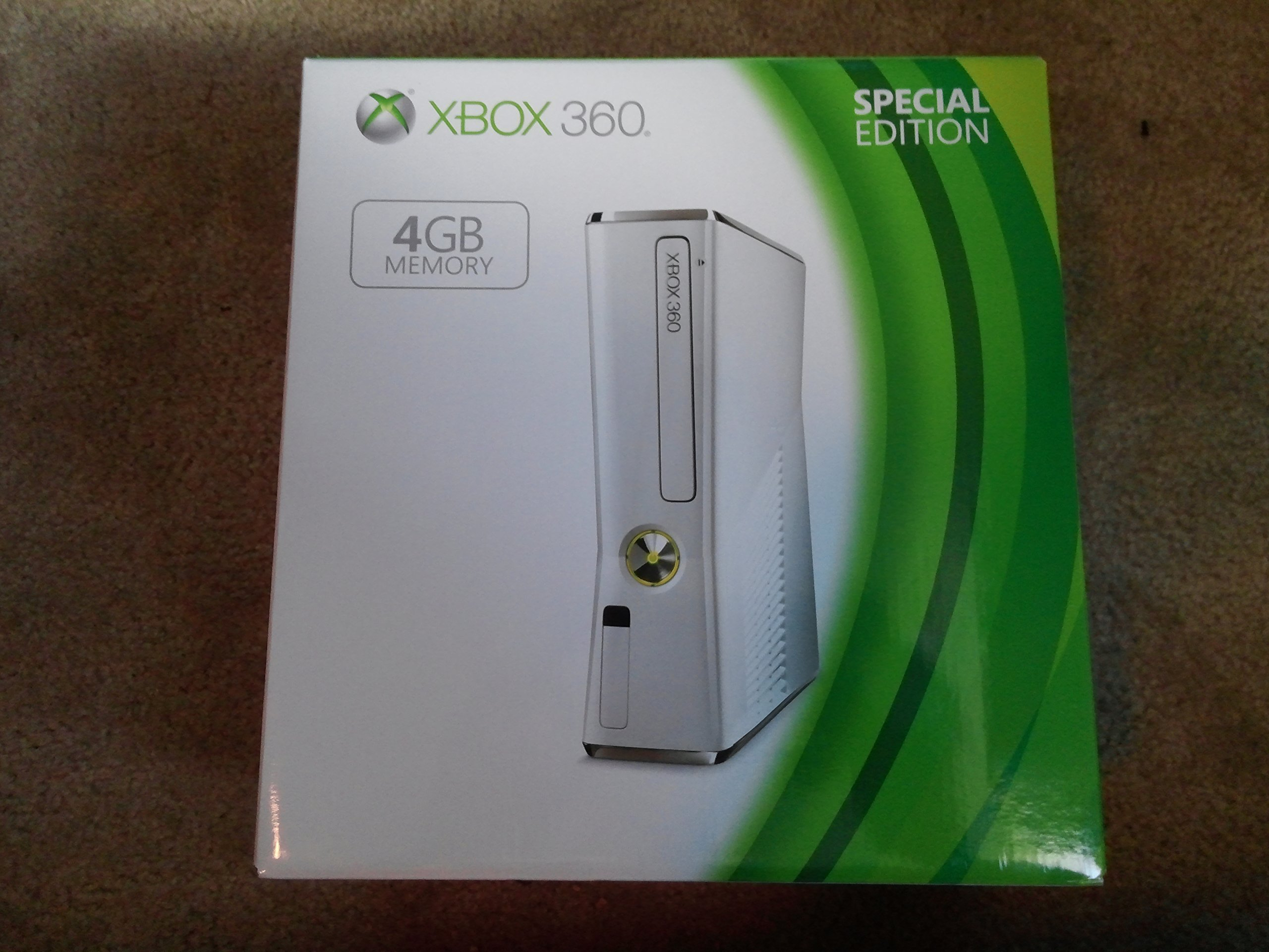 360: CONSOLE - SLIM WHITE - 4GB INTERNAL PLUS 20GB HDD - INCL: 1 WIRELESS CTRL KINECT SENSOR ; KINECT ADVENTURES COMPLETE GAME; HOOKUPS (USED)